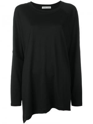 Asymmetrical oversized jumper Tsumori Chisato. Цвет: чёрный