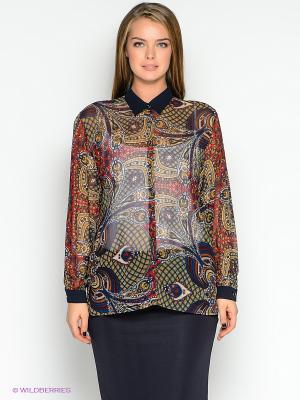 Блузка TOPSANDTOPS. Цвет: горчичный, красный