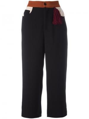 Укороченные широкие брюки Au Jour Le. Цвет: чёрный