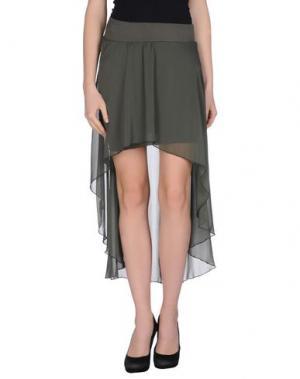 Мини-юбка AGATHA CRI. Цвет: зеленый-милитари