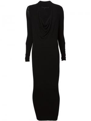 Трикотажное платье с воротником-хомутом Urban Zen. Цвет: чёрный