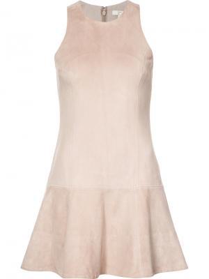 Расклешенное платье Joie. Цвет: телесный