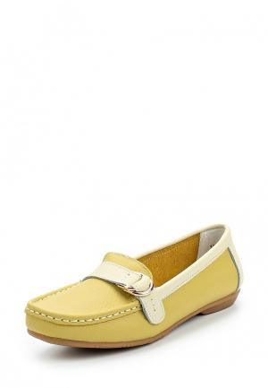 Мокасины Zenden Comfort. Цвет: желтый