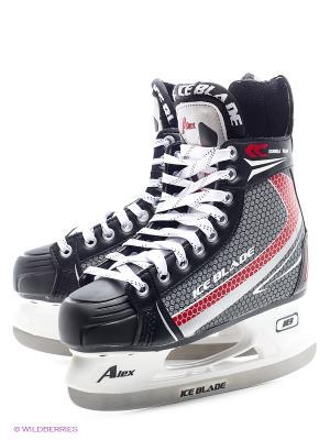 Коньки хоккейные ICE BLADE Alex New. Цвет: черный, белый, красный, серый