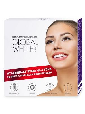 Система для отбеливания зубов Global White. Цвет: белый, синий