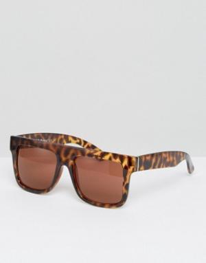 AJ Morgan Квадратные солнцезащитные очки. Цвет: коричневый