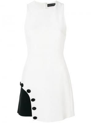 Платье без рукавов с асимметричной прорезью David Koma. Цвет: белый