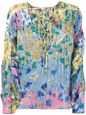 Блузка с цветочным принтом Dondup. Цвет: многоцветный