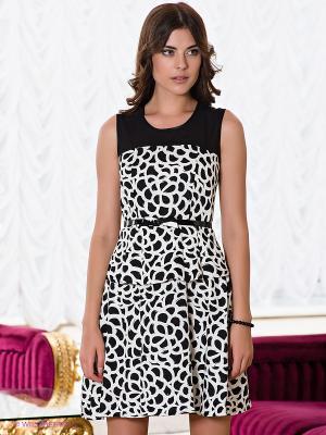 Платье Verezo. Цвет: молочный, черный