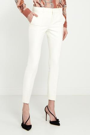 Узкие брюки со стрелками Gucci. Цвет: белый