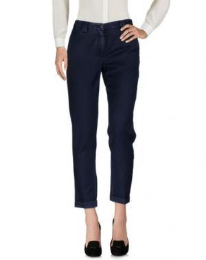 Повседневные брюки MYTHS. Цвет: грифельно-синий