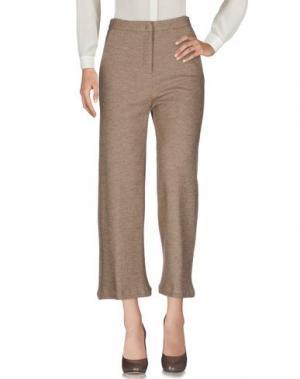 Повседневные брюки MYTHS. Цвет: бежевый