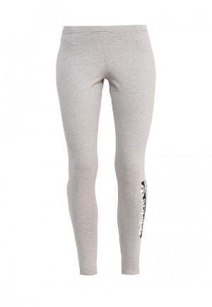 Леггинсы adidas Originals. Цвет: серый