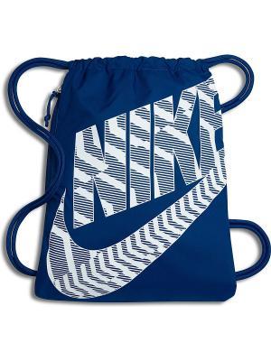 Мешок для обуви NIKE HERITAGE GYMSACK. Цвет: синий, белый