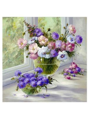 Декоративная наволочка Краски лета Рапира. Цвет: фиолетовый, белый, розовый
