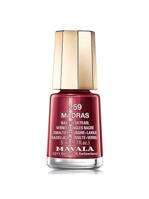 Лак для ногтей тон 259 Madras Mavala. Цвет: темно-красный