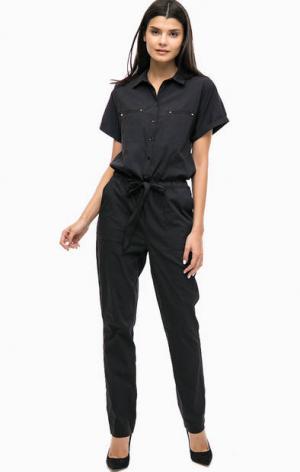 Черный комбинезон с брюками Mavi. Цвет: черный