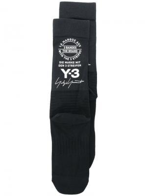 Носки с логотипом Y-3. Цвет: чёрный