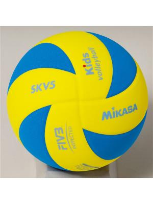 Мяч волейбольный Mikasa. Цвет: желтый, голубой