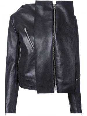 Куртка с байкерской деталью Yang Li. Цвет: чёрный