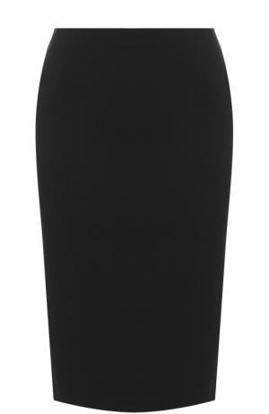 Однотонная юбка-карандаш Armani Collezioni. Цвет: черный