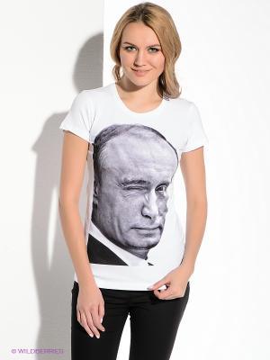 Футболка В.В. Путин Подмигивает Alexander Konasov. Цвет: белый