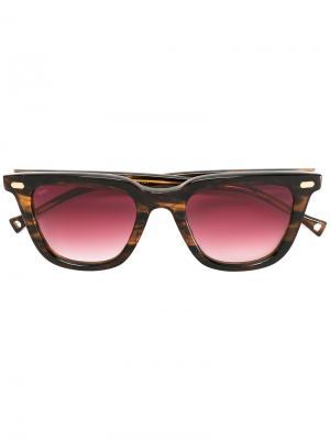 Солнцезащитные очки с бордовыми линзами Oamc. Цвет: коричневый