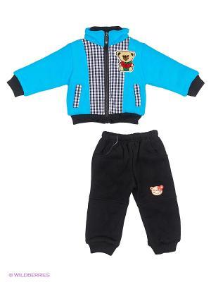 Комплект Happy Bear. Цвет: черный, голубой