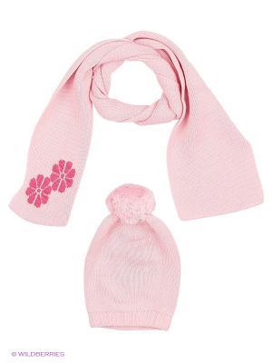 Комплект детский (шапка, шарф) R&I. Цвет: бледно-розовый