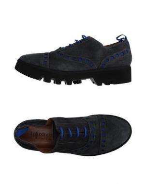 Обувь на шнурках PÀNCHIC. Цвет: свинцово-серый