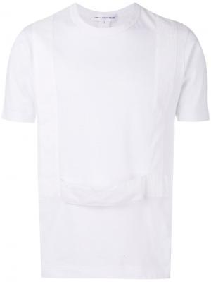 Футболка с панелями в стиле подтяжек Comme Des Garçons Shirt. Цвет: белый