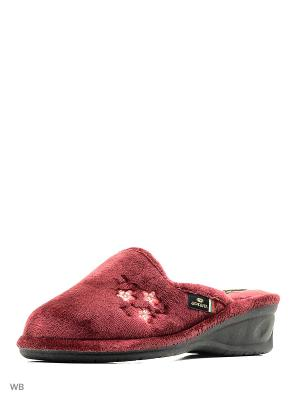 Тапочки Spesita. Цвет: бордовый