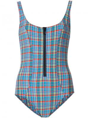 Plaid one piece Lisa Marie Fernandez. Цвет: многоцветный