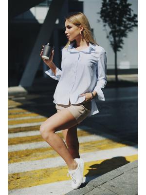 Рубашка Fashion.Love.Story.. Цвет: серо-голубой