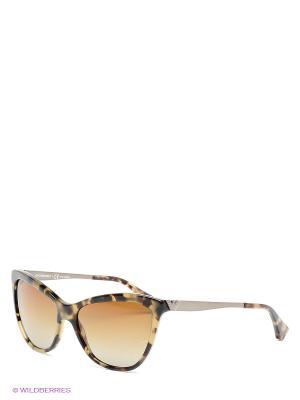 Очки солнцезащитные Emporio Armani. Цвет: бежевый