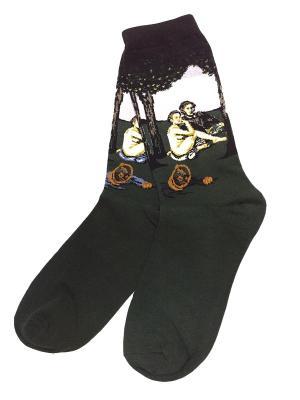 Носки ART-дизайн HOBBY LINE. Цвет: сиреневый, черный, темно-зеленый