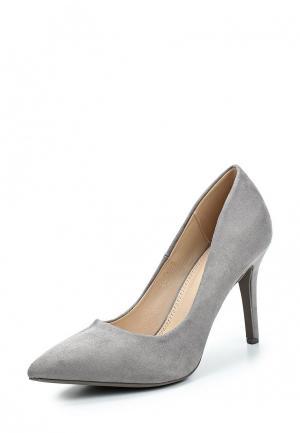 Туфли WS Shoes. Цвет: серый