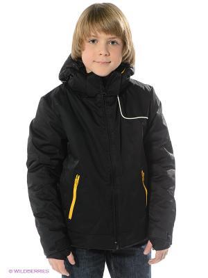 Куртка CACAO. Цвет: черный, желтый