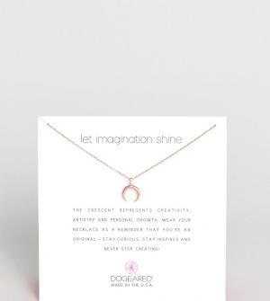 Dogeared Ожерелье с покрытием из розового золота. Цвет: золотой