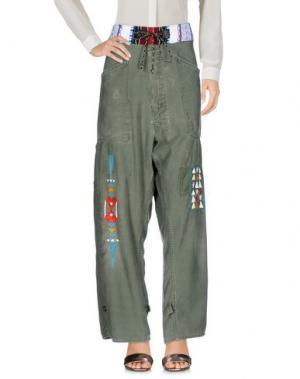 Повседневные брюки HTC. Цвет: зеленый-милитари