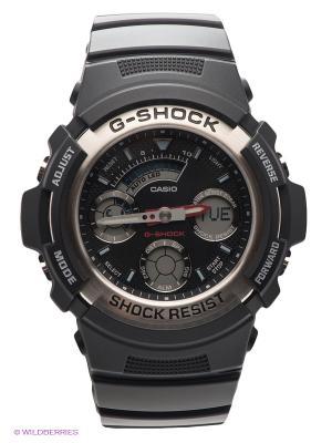 Часы G-SHOCK AW-590-1A CASIO. Цвет: черный, серебристый