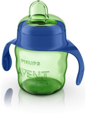 Чашка с мягким носиком Philips Avent SCF551/00, 200 мл, 6 мес.+. Цвет: зеленый, синий