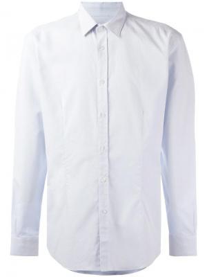 Рубашка с мелким узором Daniele Alessandrini. Цвет: синий