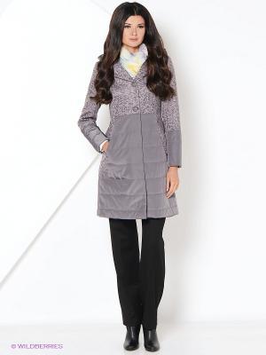 Пальто демисезонное DizzyWay. Цвет: серо-коричневый