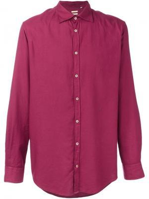 Классическая рубашка Massimo Alba. Цвет: розовый и фиолетовый