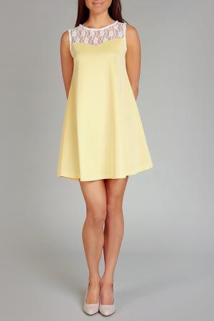 Платье Karen. Цвет: желтый