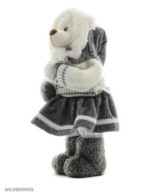 Мишутка в Шапке и Юбке  (MT-161146-30) MAXITOYS. Цвет: бежевый, белый, серый