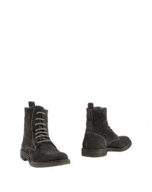 Полусапоги и высокие ботинки PANTOFOLA D'ORO. Цвет: стальной серый