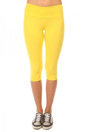 Леггинсы женские  Supplex Capri Yellow CajuBrasil. Цвет: желтый