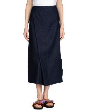 Джинсовая юбка CHARLIE MAY. Цвет: синий